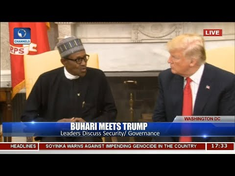 Nigerian Herdsmen Don't Carry Weapons Buhari Tells Trump