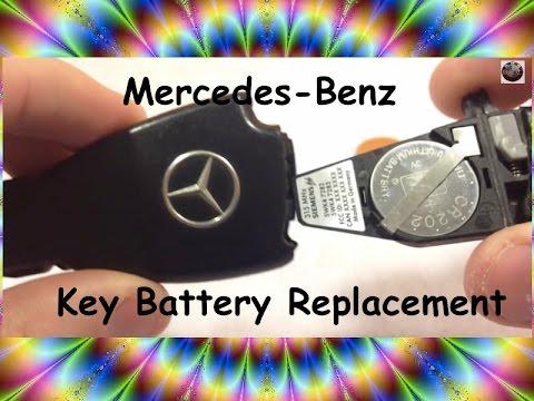 Mercedes Benz Battery Replacement Key Fob Keyless DIY: S class E class C class CLK SLK SL ML GL G R