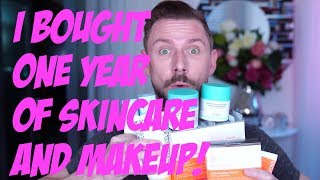 I BOUGHT ONE FULL YEAR OF SKIN CARE AND MAKEUP! by Wayne Goss