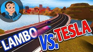 It's Lambo Vs. Tesla in Roblox Jailbreak!! Loomy Plays and I are Mythbusting in Roblox Jail Break