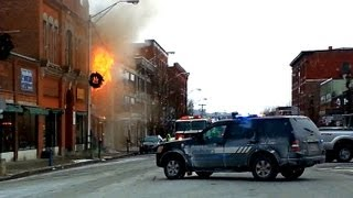 Saint Johnsbury (VT) United States  city photos gallery : FIRE-Downtown St Johnsbury Vermont 12-23-12