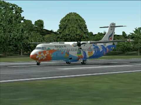 ATR 72 Bangkok air taxi down to parking VTBO