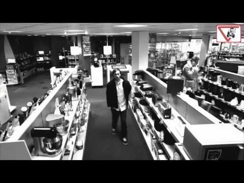inganna con un effetto ottico le telecamere di sorveglianza e ruba tv