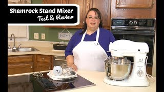 "Join Amy for a review of the Shamrock Stand Mixer. This is a 6 quart tilt-head stand mixer with 700 watts. We tested this stand mixer by whipping cream with the whip, making Peanut Butter Cookies with the paddle, and making bread dough with the dough hook. Shamrock Stand Mixer:http://amzn.to/2tTUmGw Amy Learns to Cook is all about learning to make simple, tasty food from fresh ingredients.  I made a commitment to stop eating processed convenience foods.  I decided to learn to cook ""real"" food. Join me!  Let's learn to cook together! Enjoy! Please share! Please SUBSCRIBE to my channel, LIKE, and leave a COMMENT.Please visit my website: www.amylearnstocook.comAny links in this description, including Amazon, are affiliate links.I received this product free of charge in exchange for my honest review."