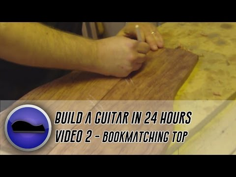 Video 2 - How to build a guitar | cutting and hand jointing a book-matched top