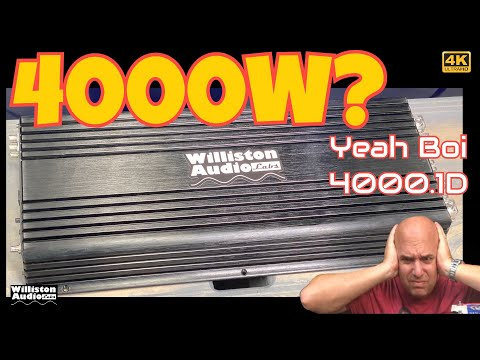 Williston Audio Labs Amplifiers? Teampie TP-4000.1D Amp Dyno Test and Review [4K]