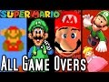 Download Lagu Super Mario ALL GAME OVER SCREENS 1985-2015 (Wii U to NES) Mp3 Free