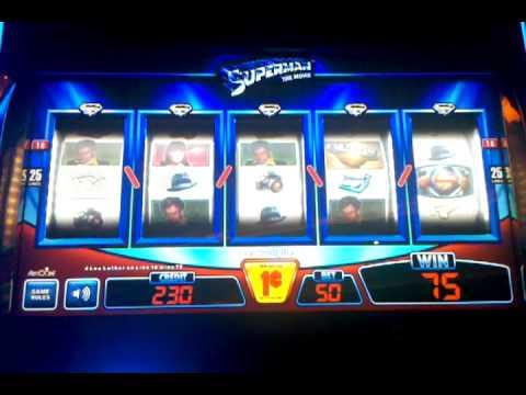Superman slot machine, 10 min running video, Treasure Island Las Vegas, July 2012