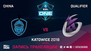 NewBee.M vs Keen Gaming, ESL One Katowice CN, game 1 [Mortalles]