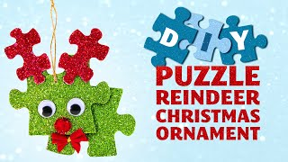 Reindeer Puzzle Ornament - DIY Christmas Decoration and Gift Idea - YouTube