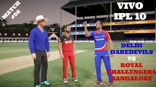 MATCH 56 : DELHI DAREDEVILS VS ROYAL CHALLENGERS BANGALOREWho will emerge as winner in this IPL CLASH ? Watch this Video !!Comment below who is your favourite IPL team.Thanking you all for the Wonderful support for this Series !!Leave a like if you Enjoyed this video.LIKE AND SUPPORT GUYS