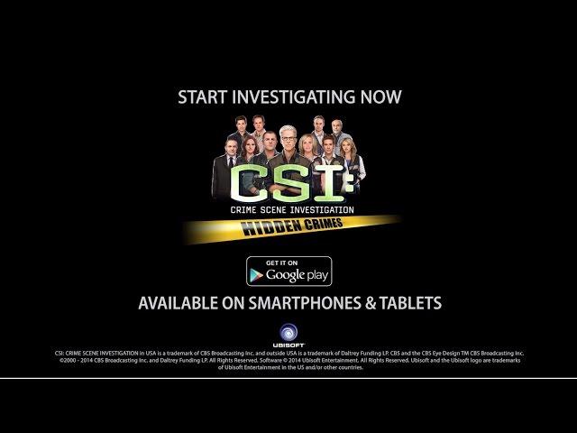 CSI : Hidden Crimes – Google Play Launch Trailer