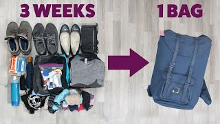 Video How To Pack Light For A Long Trip MP3, 3GP, MP4, WEBM, AVI, FLV Juli 2019