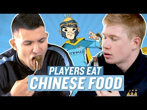 Video: Manchester City Players Try Chinese Food! | Chinese New Year