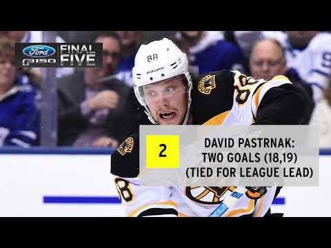 Video: Ford Final Five: Pastrnak's Two Goals Not Enough As Leafs Top B's