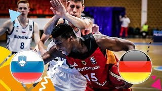 Slovenia v Germany - Class. 9-16 - Full Game - FIBA U16 European Championship 2018