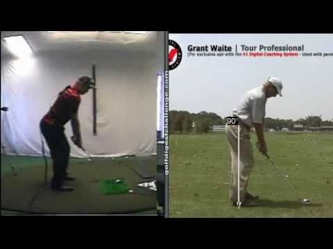 7 iron swing at golf-tec lesson.