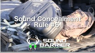 Sound Concealment Rule #6 - do you tolerate this?