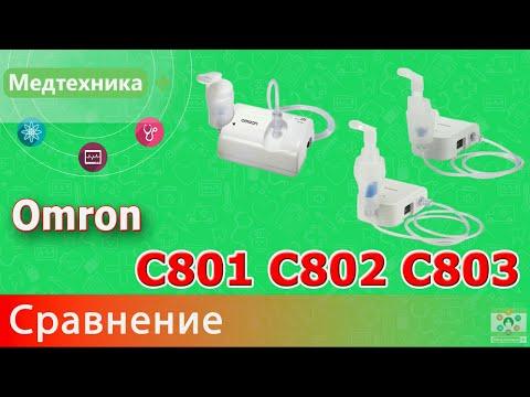 Сравнение ингаляторов Omron C801, C802, C803