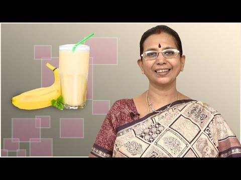 Banana Milkshake | Mallika Badrinath Recipe | Health Drink During Pregnancy