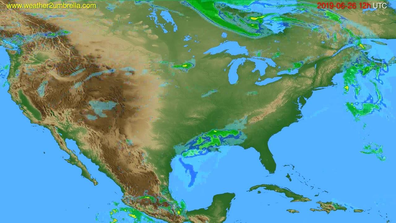 Radar forecast USA & Canada // modelrun: 00h UTC 2019-06-26