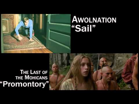 """Sail"" by AWOLNATION uses the exact same chords as ""Promontory"" from The Last of the Mohicans OST. Here they are mixed together."