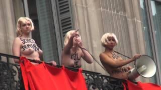 Video Des Femen interrompent le discours de Marine Le Pen 1er mai 2015 MP3, 3GP, MP4, WEBM, AVI, FLV Mei 2017