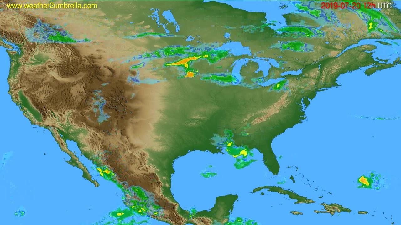 Radar forecast USA & Canada // modelrun: 00h UTC 2019-07-20