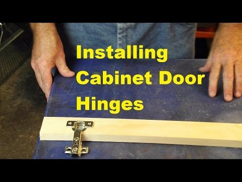 how to fit cupboard hinges