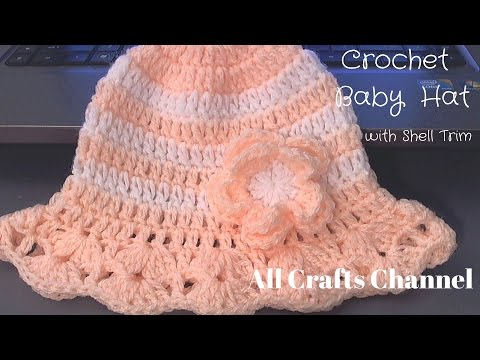 How to crochet baby  / childs hat for summer (tambien en Espanol)