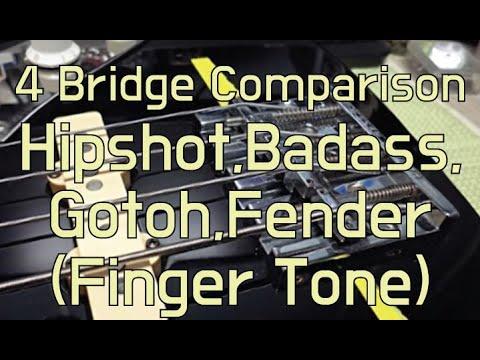 4 Bass Guitar Bridges sound sample - Finger Tone
