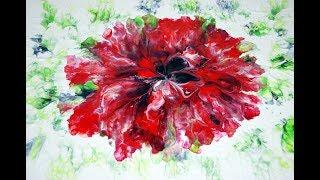 Reverse flower dip on bigger canvas