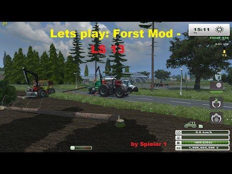 Lets play Ls 13 Forst Mod | Fällen und Verarbeitung von Bäumen