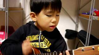 Cute Korean Kid Plays Ukulele