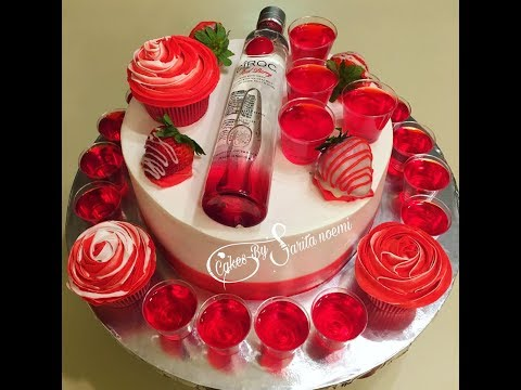 Red Berry Ciroc Birthday Cake Jello Vodka Shots Pastel Con Shots