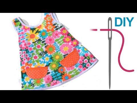"""Aufgesetzte Taschen auf Kleid """"FLORA"""" nähen – Schnitte von www.zierstoff.de"""
