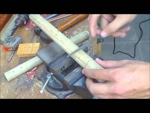 nunchucks - How to make nunchaku, wooden sticks with cord connector. http://nunchakututorials.com.