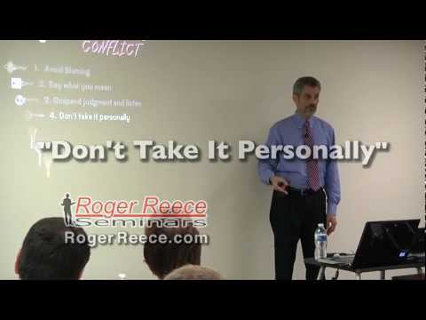 Conflict Management: Don't Take it as a Personal Attack