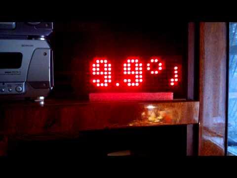 Часы на светодиодной матрице