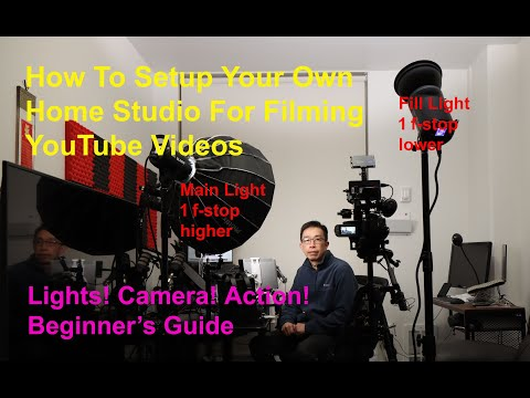 How I setup my home studio for creating YouTube videos - 12 step guide for beginners (Long Video)