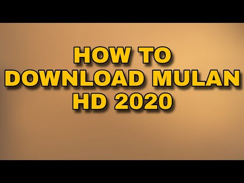 how to download mulan 2020 full movie in english