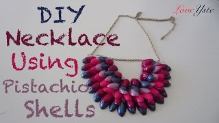 DIY Necklace Using Pistachio Shells (Easy Tutorial) - YouTube