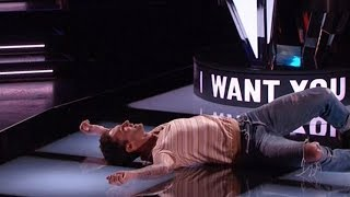 Video Top 10 performance That made coaches Fall Off chairs in The voice Audition 2018 MP3, 3GP, MP4, WEBM, AVI, FLV Agustus 2018