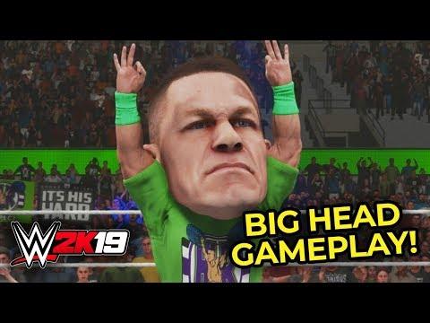 WWE 2K19 BIG HEAD MODE!! JOHN CENA vs ROMAN REIGNS!! (WWE 2K19 Gameplay)