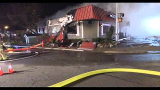 Drone footage shows size, fury of Pepino's restaurant fire