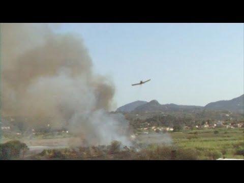 Σε εξέλιξη δυο πυρκαγιές στην Κέρκυρα