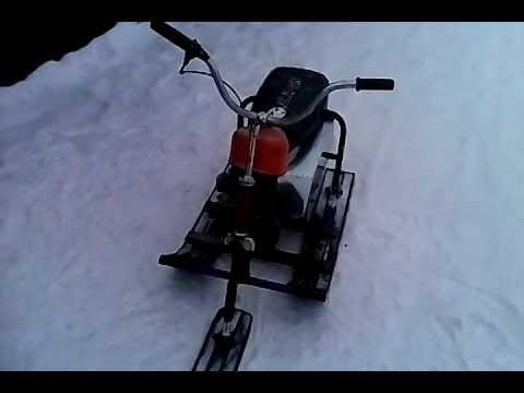 Детский снегоход своими руками из бензопилы видео