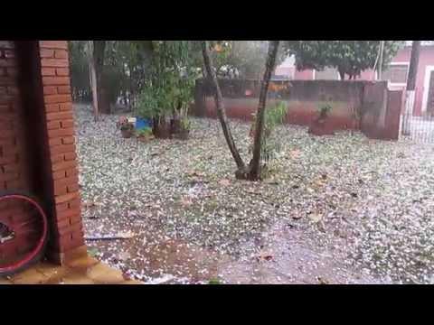 Chuva de Granizo muito foda em Trabiju !!!