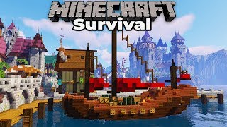 Building an Awesome NEW Trade Ship in Minecraft 1.14 Survival Let's Play