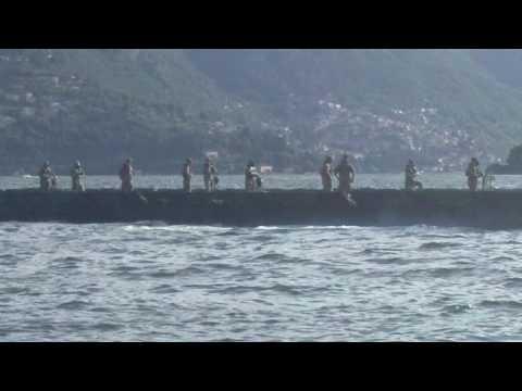 Odescalchi sul lago, il ponte mobile dell'esercito italiano
